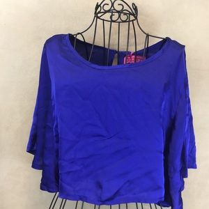 Boohoo size 4 Skye Cape Blouse  New With Tags V77